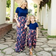 highwaist mother daughter dresses mommy and me clothes family look matching outfit mom mum mama floral dress clothing