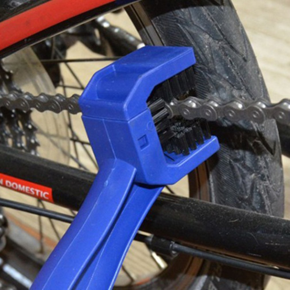 3-сторонняя велосипедная цепь для езды на мотоцикле, для удаления тормозов, Чистая щетка, шестерня, Grunge, щетка для уборки, инструмент для очис...