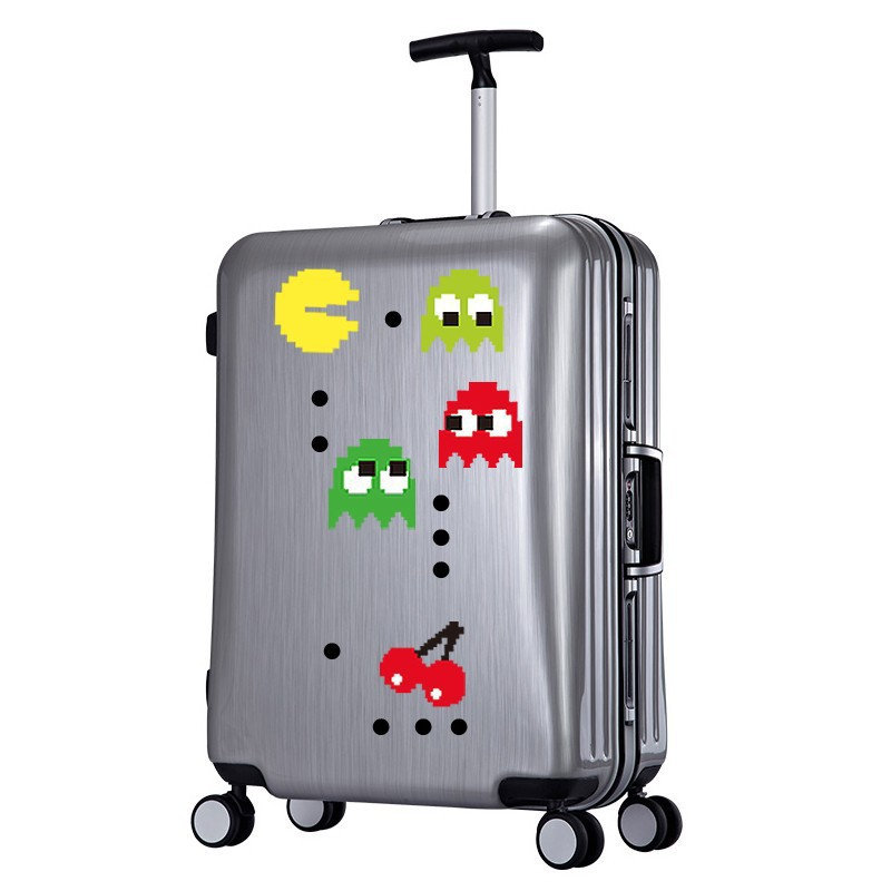 12pcs Pac Man Wall Stickers home decoration Bedroom Suitcase Wall Decal Nursery children girls decorative vinyl babies Y170742 in Wall Stickers from Home Garden