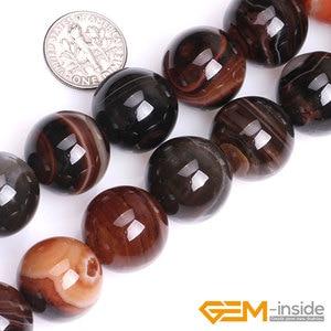 """Image 2 - Agates de dentelle de rêve 16mm 18mm 20mm perles perles de pierre naturelle perles de bricolage pour Bracelet collier fabrication de bijoux brin 15 """"en gros!"""