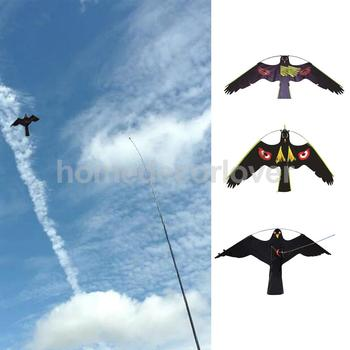 3x Hawk latawiec ochronę rolników upraw realistyczne latający ptak gołąb wabik sowa ptak wykonanie połknąć wabik środek odstraszający odstraszacz tanie i dobre opinie