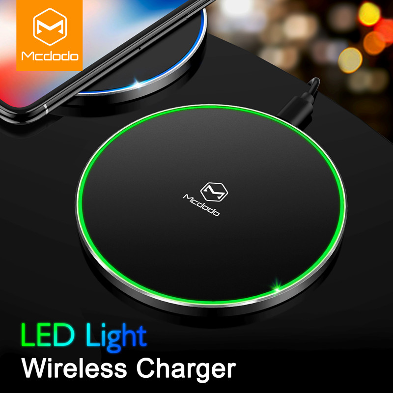 MCDODO Qi Wireless Charger 10W for Samsung Galaxy S9 S8 S7 Wireless Charging for iPhone X