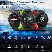 Original DTNO.1 F5 Sports Smart Watches Altimeter Thermometer GPS Watch Bluetooth 4.2 Heart Rate Monitor Smartwatch Android iOS no 1 f5 gps smart watch altitude barometer thermometer heart rate bluetooth 4 2 smartwatch wearable devices for ios android