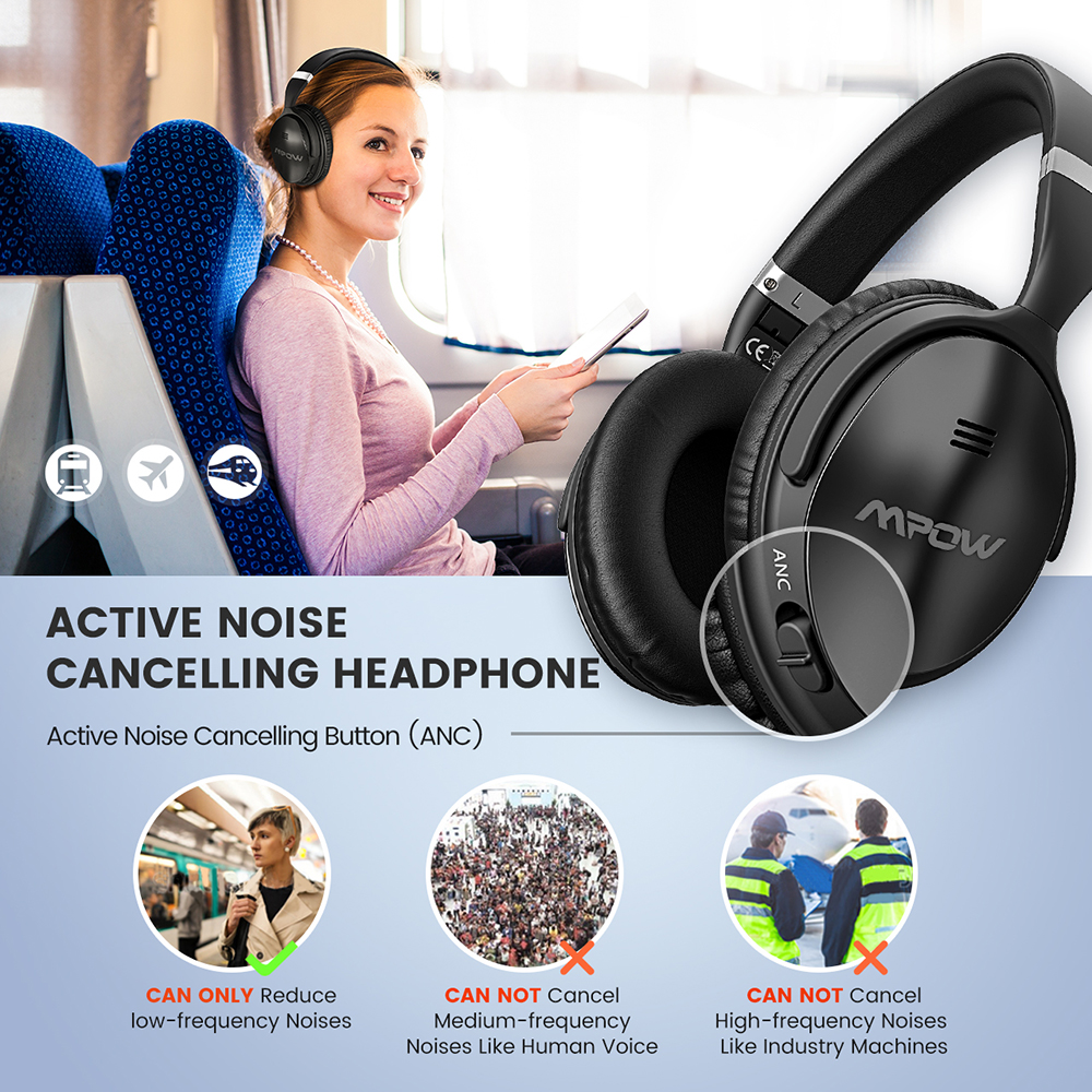 Image 4 - 2 Gen 2nd Mpow H5 Noise Cancelling Bluetooth Headphones with Microphone Over Ear Wireless Headset for HiFi Stereo&18Hrs Playtime-in Bluetooth Earphones & Headphones from Consumer Electronics