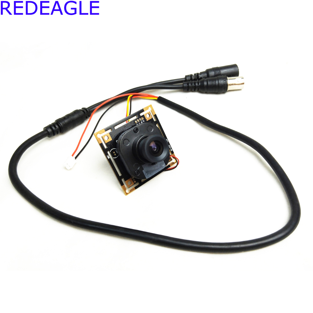REDEAGLE CCTV Mini 700TVL CMOS Color Security Camera PCB Board Module with IR-CUT Filter and Cable