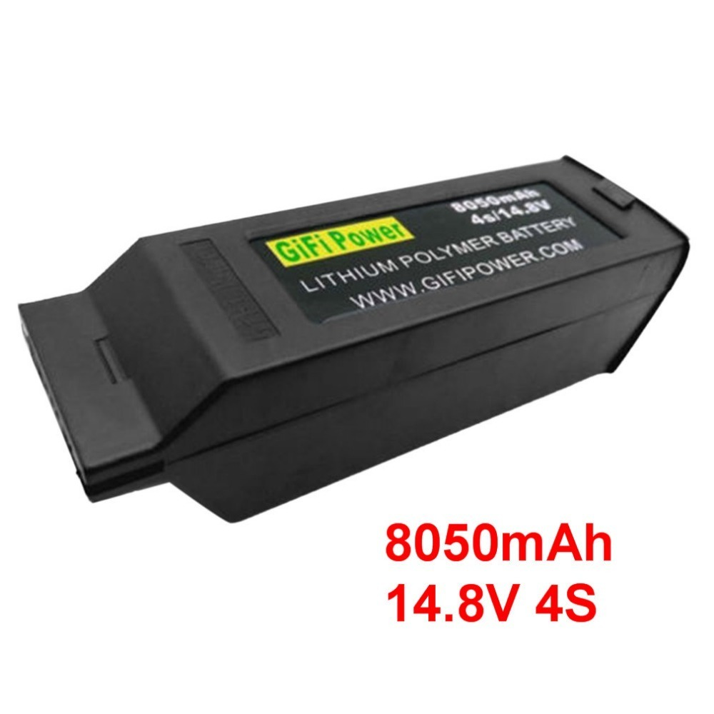 Gifi Power 8050mAh Large Capacity Battery 14.8V 4S Upgraded Replacement Lipo Battery Drone Battery For Yuneec Typhoon H H480Gifi Power 8050mAh Large Capacity Battery 14.8V 4S Upgraded Replacement Lipo Battery Drone Battery For Yuneec Typhoon H H480