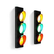 купить American Creative Traffic Light Iron Art Wall Light Industrial Wind Lamp Coffee Shop Bar Restaurant Wall Lamp LED Light Fixture дешево