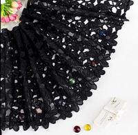 5 Yards 30 CM Lace Trim Lace Applique Black Polyester For Clothes Home Textiles Apparel Sewing