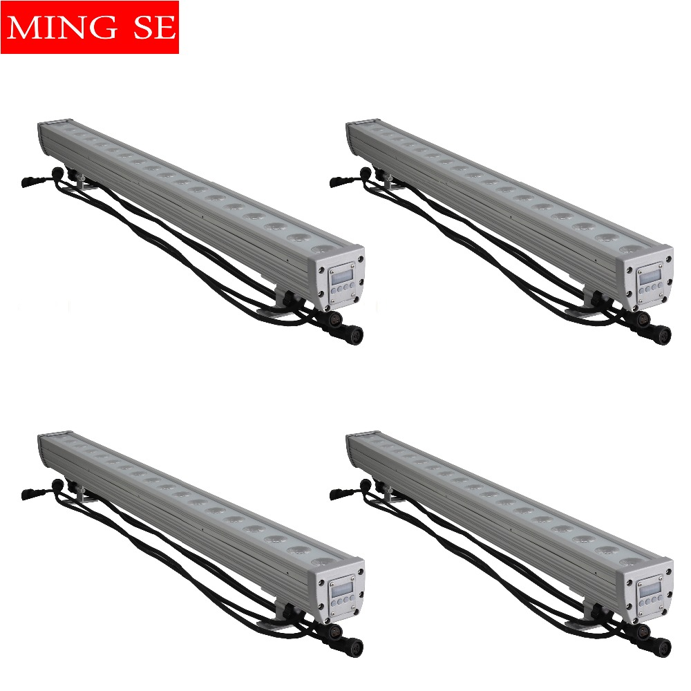 Commercial Lighting Official Website 4pcs/lots 18x12w Rgbw 4in1 Ip65 Waterproof 3in1 Led Bar Wall Washer Led Outdoor Flood Light Dj Bar Show Stage Light Commodities Are Available Without Restriction