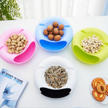 Lazy Plastic Double Layer Dry Fruit Containers Snacks Storage Box Garbage Holder Desktops Plate Dish Organizer