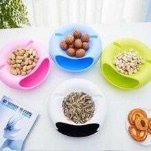 Pigro di Plastica A Doppio Strato di Frutta Secca Scatola di Immagazzinaggio Snack Contenitori di Immondizia Supporto Desktop Piatto Piatto Organizzatore