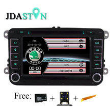 JDASTON 2 din Car DVD Player For Volkswagen VW SKODA Passat B6 Polo Golf Touran Sharan Jetta Caddy T5 Tiguan Seat Radio GPS Navi