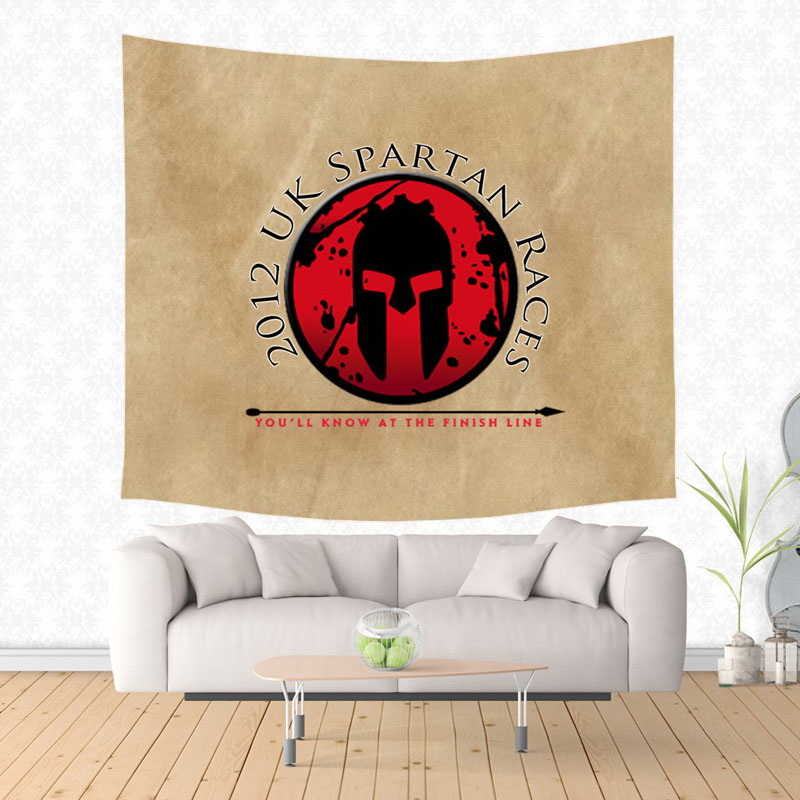 Spartan Race Tapestry Wall Hanging Customized Bedspread Bedsheets ...