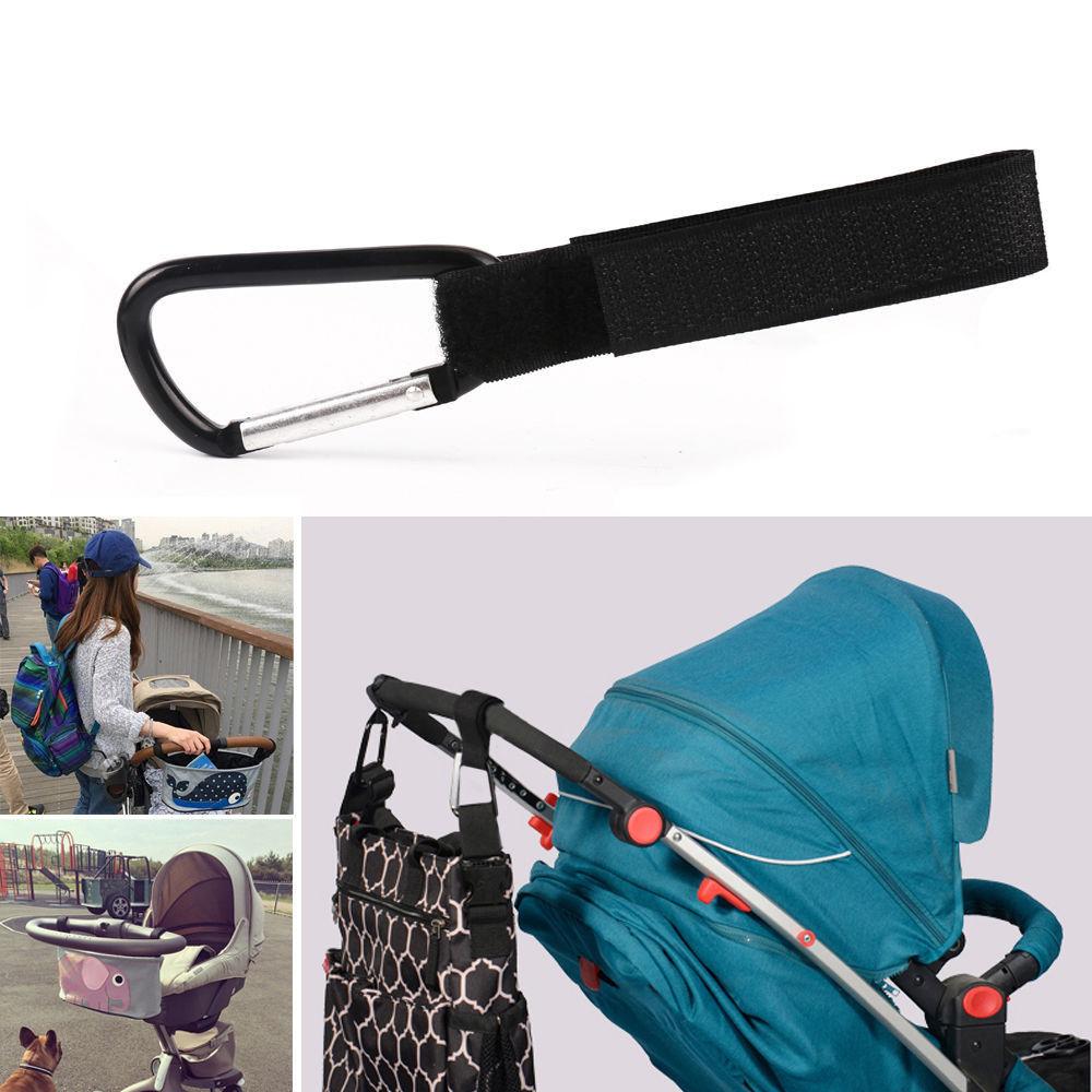 4pcs Buggy Pram Pushchair Clip Stroller Hook Shopping Bag Carrier Holder