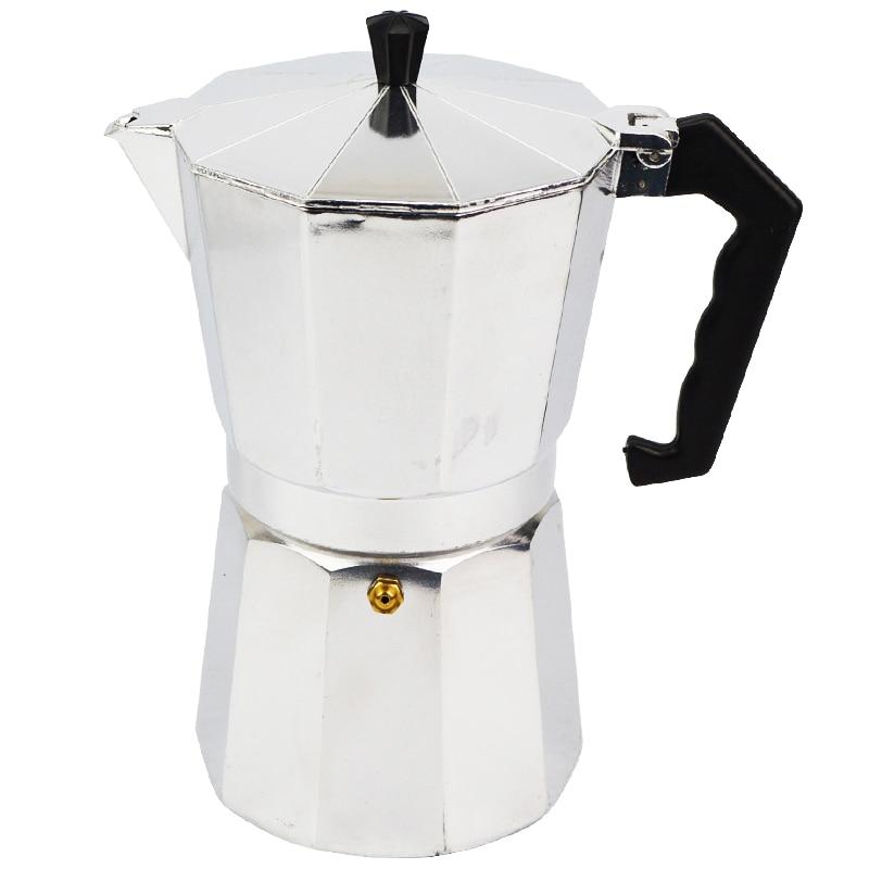 6 CUP ITALIAN COFFEE PERCULATOR STOVE TOP CAST ALUMINIUM GROUND COFFEE POT LATTE