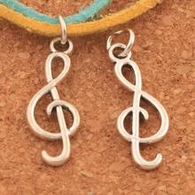 Treble G Clef Musical Note Charms Pendants 25.5x9.3mm 200PCS Antique Silver Jewelry DIY T1630