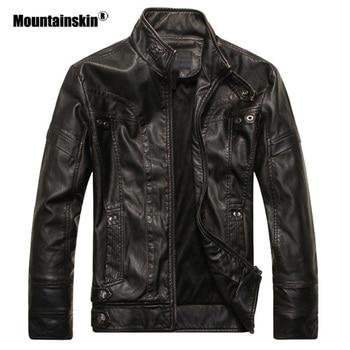 Men's Leather Motorcycle PU Jacket