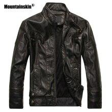 Mountainskin Новый Для Мужчин's Кожаные куртки мотоцикл ПУ куртка мужской осенью Повседневное кожаные пальто Slim Fit Для мужчин s брендовая одежда SA588
