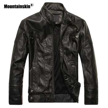 Mountainskin New Men's Leather Jackets Motorcycle PU Jacket Male Autumn Casual Leather Coats Slim Fit Mens Brand Clothing SA588 - DISCOUNT ITEM  41% OFF All Category
