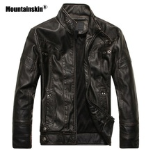 Mountainskin New Men's Leather Jackets Motorcycle PU Jacket Male Autumn Casual Leather Coats Slim Fit Mens Brand Clothing SA588