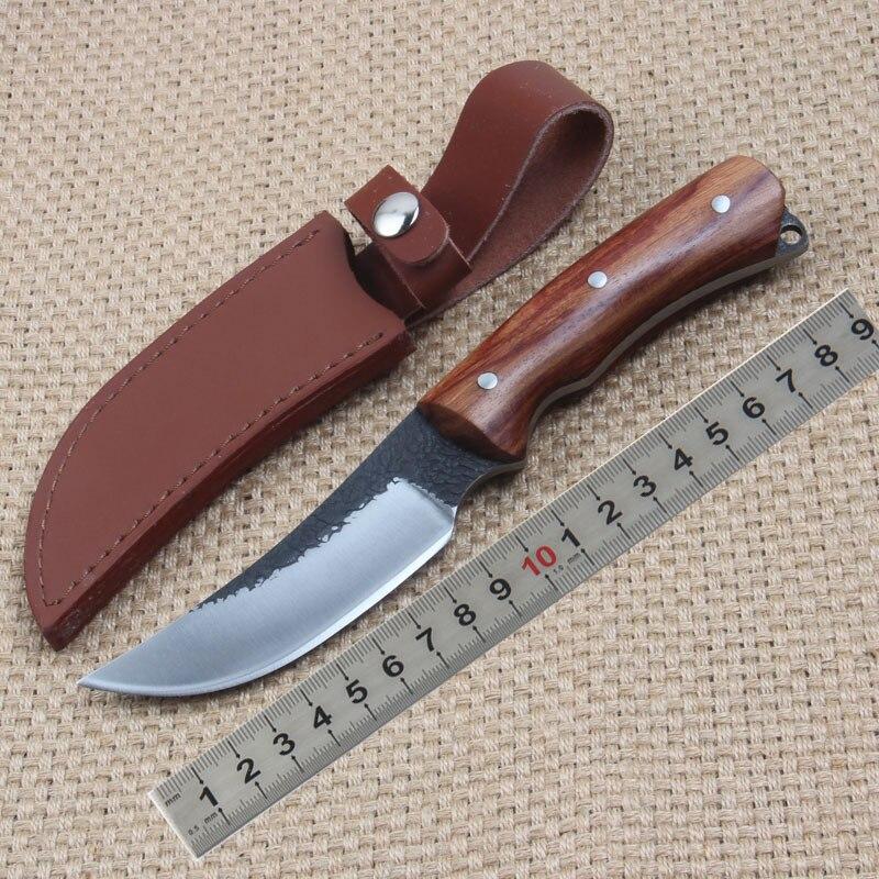 Neue Matador Reparierte Blatt messer High carbon steel Safflower pear handle Griff Outdoor Jagd Gerades Messer