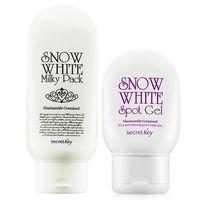 SECRET KEY Snow White Milky Pack 200ml Snow White Spot Gel 65g Whitening Skin Korea Comestic
