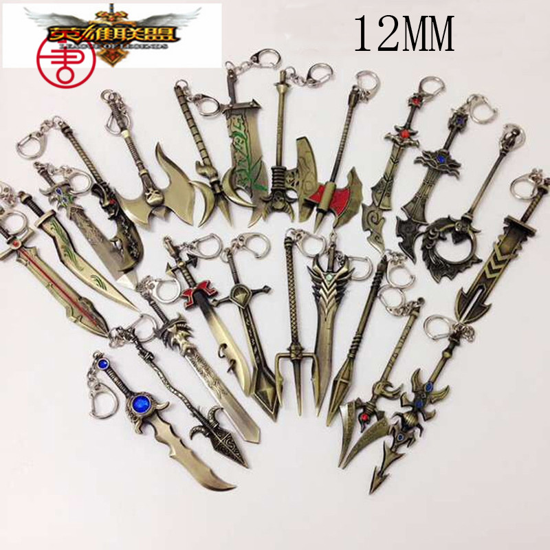 New League of Legend charm weapons keychain with ADC, JUNGLE, MID, SUPPORT pendant fit necklace diy jewelry DIY Free shipping