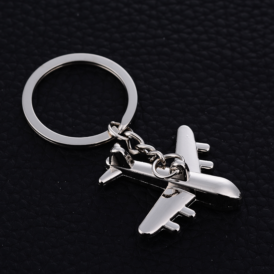 10PCS Metal Aircraft Keychain Charm airplane Car Key Ring Holder Alloy Keyfobs For Keys Bag Keyring Creative Jewelry Gift J035 image