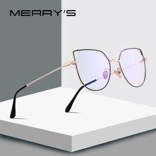 MERRYS – lunettes yeux de chat pour femmes, DESIGN, mode, monture rétro, blocage de la lumière bleue, montures optiques, S2088