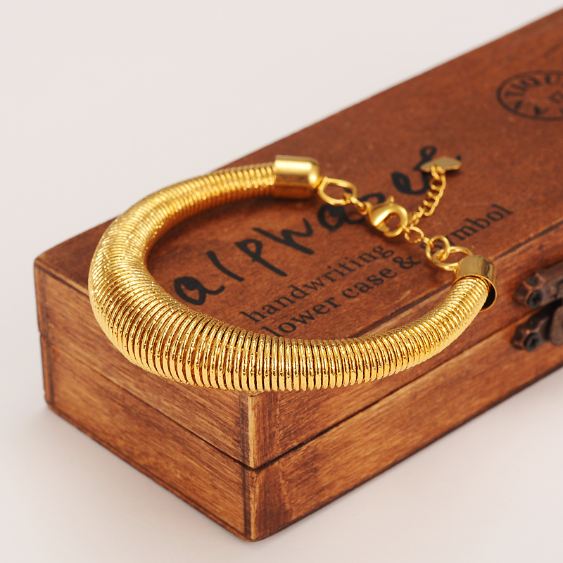 Mesh Bangle for Women Gold Color Bracelets Jewelry Bendable Trendy Accessory men bracelet bangle charms jewelry