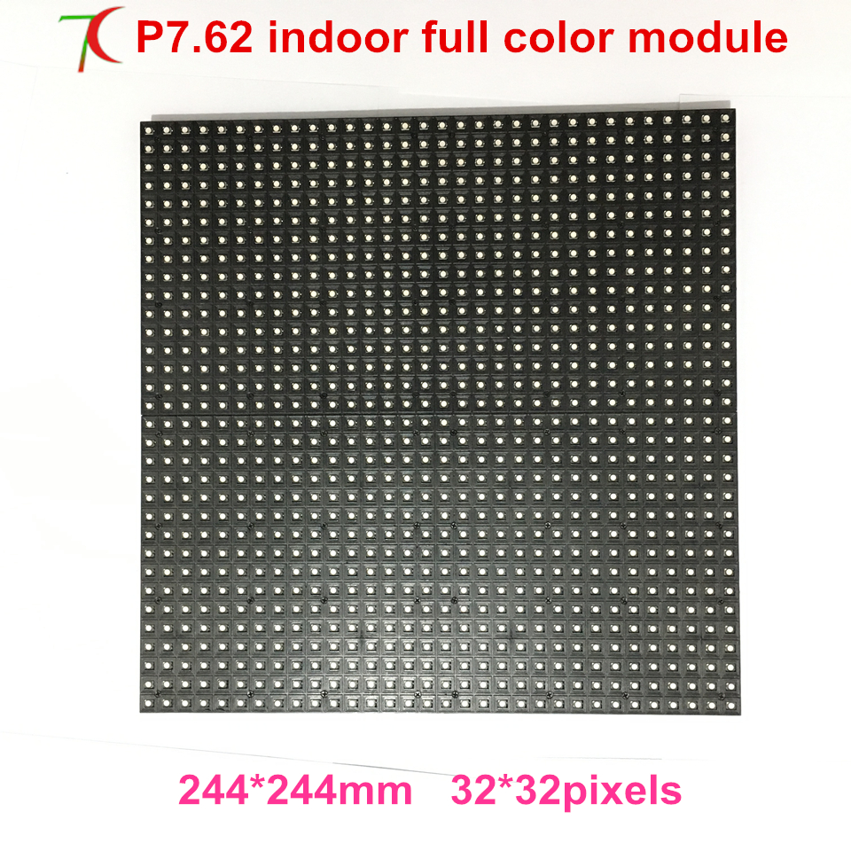 Normal Brightness P7.62 Indoor 16scan Full Color 244*244mm Led Board  ,1300cd