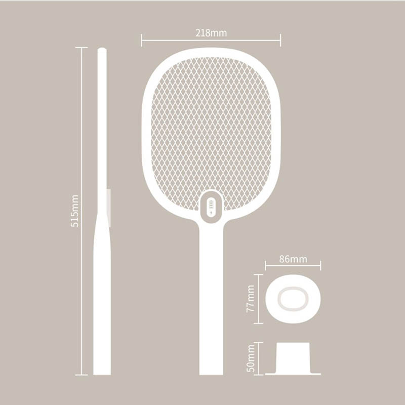 Image 5 - Xiaomi Mijia Electric Mosquito Swatter Rechargeable LED Electric Insect Bug Fly Mosquito Dispeller Killer Racket 3 Layer Net H30-in Smart Remote Control from Consumer Electronics