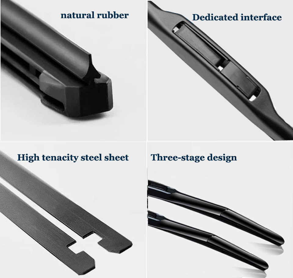 Windshield premium front hybrid wiper blade windscreen wiper car accessories for Dodge Caliber Fit Hook Arms From 2006 to 2013 in Windscreen Wipers from Automobiles Motorcycles