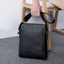 купить BAQI Brand Men Handbags Genuine Leather Soft Cowhide Men Shoulder Bags High Quality Men Messenger Bag 2019 Fashion Business Bag по цене 2507.55 рублей