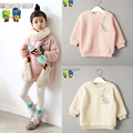 All Children's Clothes And Accessories Girls Clothing High Quality Embroidered Rabbit Pullover Girls Sweatshirt Child Outerwear