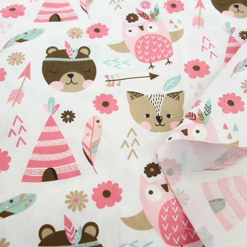 50x40 سنتيمتر الاطفال الكرتون نسيج قطني مطبوع DIY بها بنفسك الخياطة الخياطة الحرفية للطفل والأطفال اللحف ورقة اللباس المواد