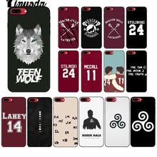Yinuoda Teen Wolf Stilinski 24 McCALL 11 LAHEY 14 Luxury Unique Desig Phone Cover for iPhone 5 5Sx 6 7 7plus 8 8Plus X XS MAX XR