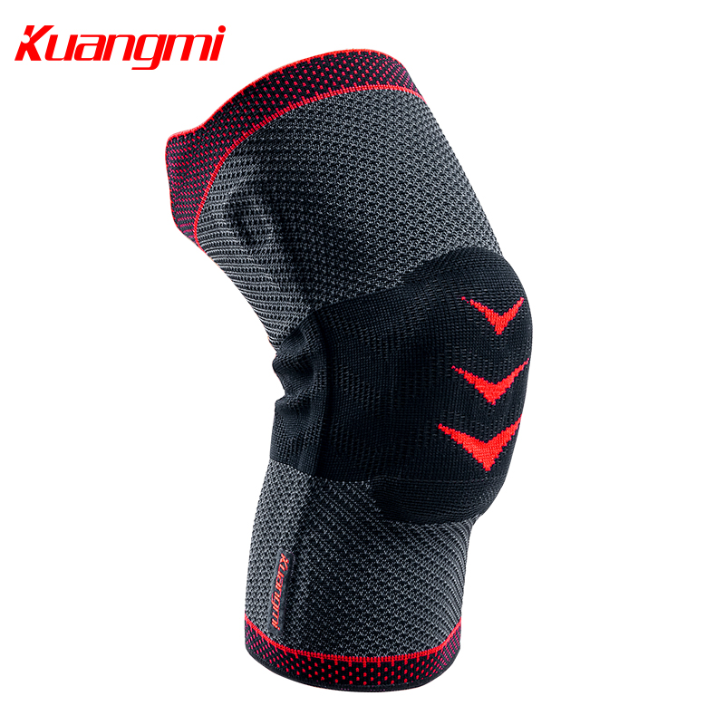 Kuangmi 1 PC Protect the patella to compress the knee pads Sports warm knee sleeve Basketball volleyball protector Thanksgiving 1 piece leg elastic sports knee brace wrap protector cap patella knee guard rubber pressurization knee sleeve pads q7 brand new