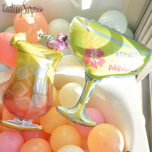 Birthday Balloons Champagne Wine Cup Whiskey Bottle Balloon 30 Years Old Happy Birthday Party Decoration Happy New Year Ballons