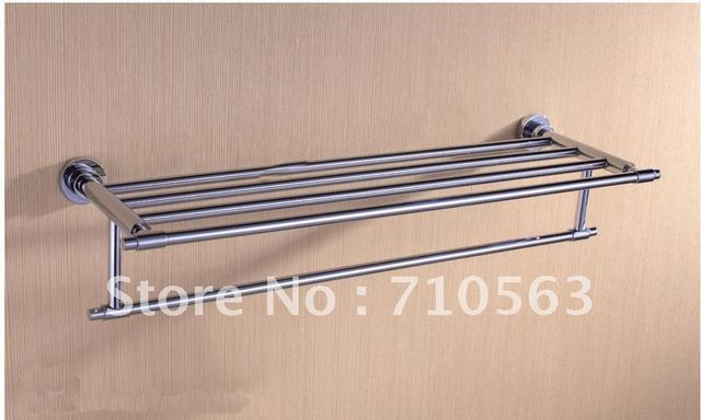 Solid Brass Chrome Bathroom Towel Rack - Wholesale - Free Shipping (1703)