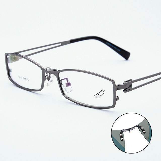 5e34ee5be4e6 Men Myopia Glasses Sunglasses Magnet Clip Optical Man Metal Eyeglasses  Frame Polarized Magnetic Clip On Spectacle Blue 5 Color
