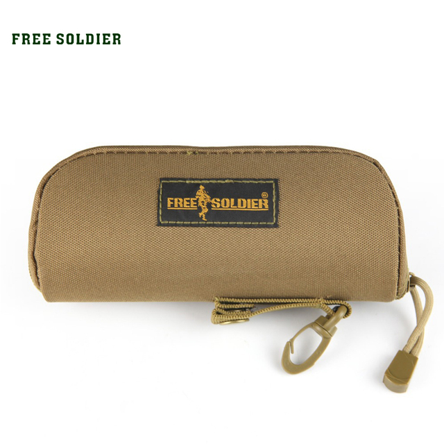 FREE SOLDIER outdoor tactical molle handbag with the MOLLE system camouflage glasses bag glasses boxes