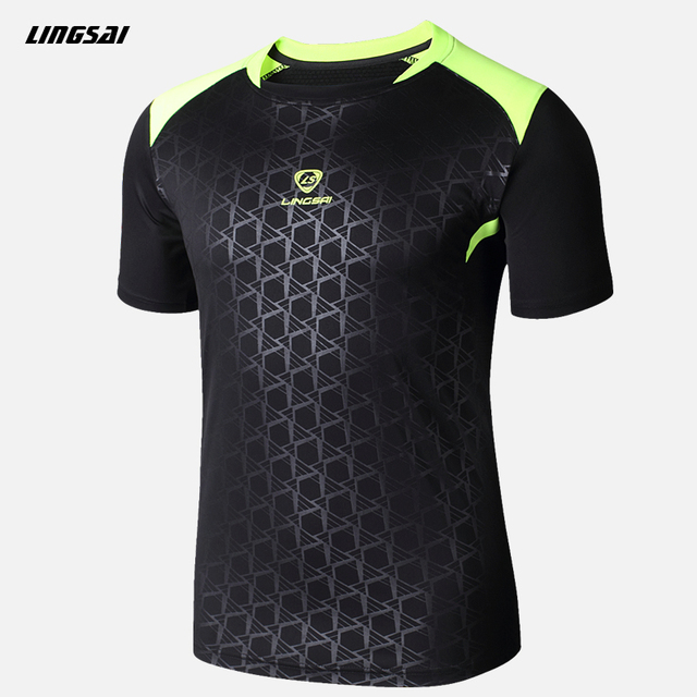 Summer style high quality T Shirt Men Brand Camisas Quick Dry Slim Fit T-shirts Men's Clothing Camisetas Soccer Jerseys 3XL