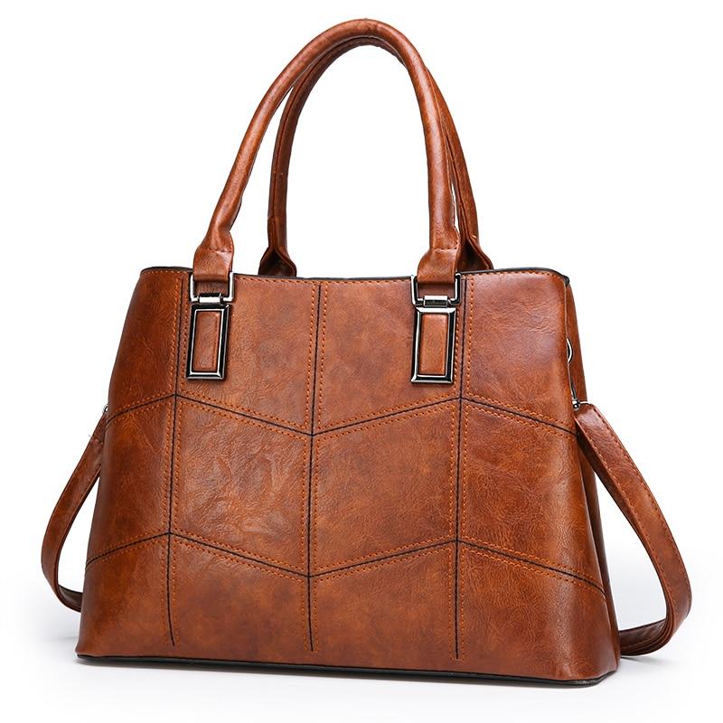 3Pcs/Set Composite Bags Designer Vintage PU Leather Tote Shoulder Bag Satchel Messenger Bag Clutches Handbags/Black