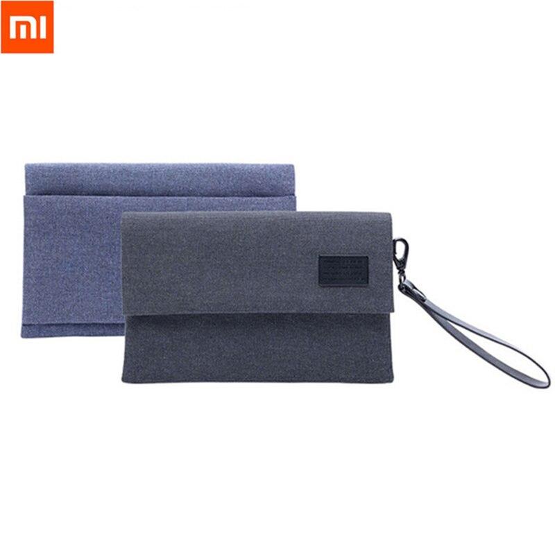 Original XiaoMi resistente al agua accesorios electrónicos organizador bolsa 600D antisalpicaduras bolsa portátil para Cable auricular teléfono