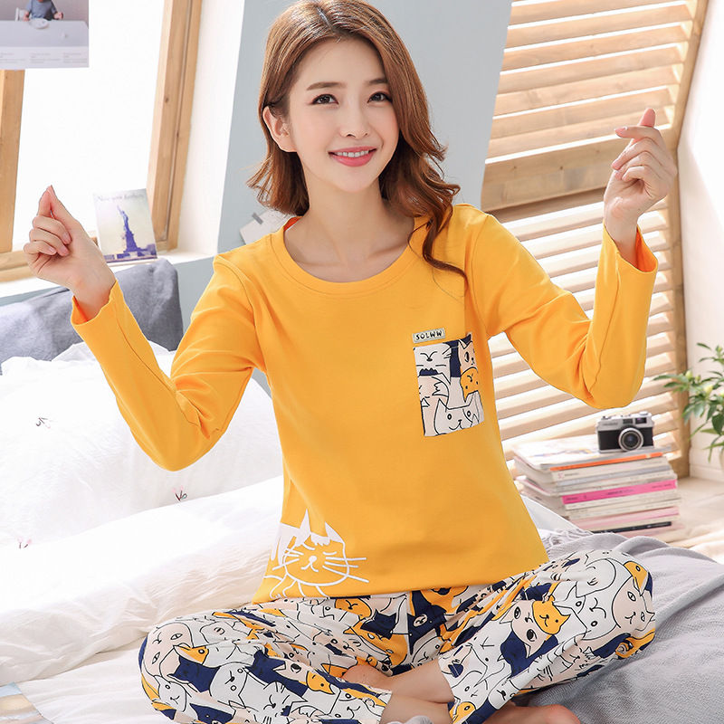 Cotton Women Pijama Sleepwear Winter Female Pajamas Sets Thick Warm Female Suit Long Sleeve Pyjamas Women Girl Home Clothes 22