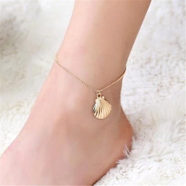 Elegant Golden Plated Shell Ankle Chain Anklet Bracelet Foot Beach