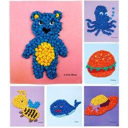 Детская игрушка DIY бумажная живопись липкая наклейка детский сад игрушка материал посылка детские игрушки для девочек ремесла детские