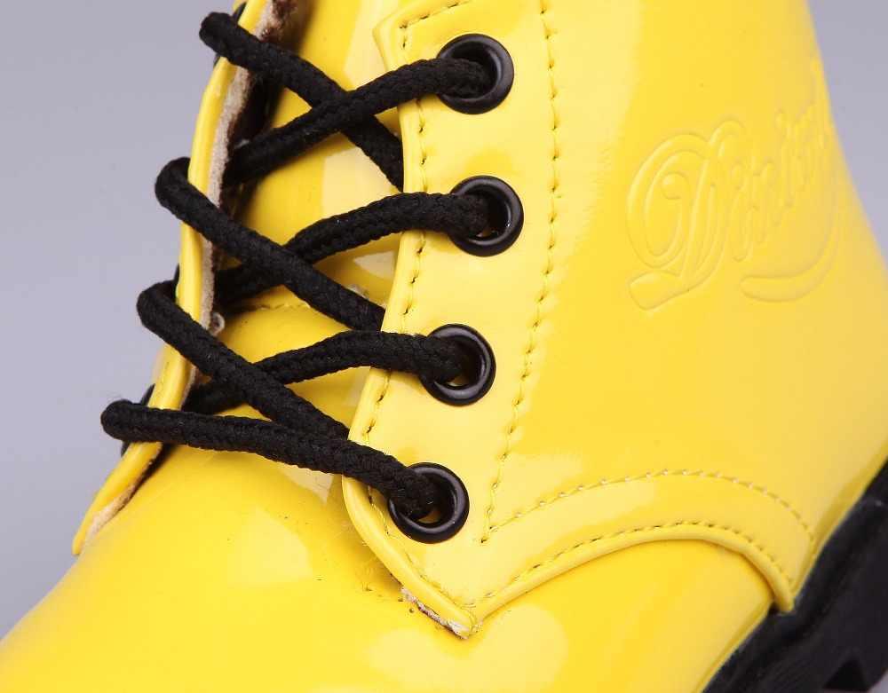 Kış Çocuk Deri Çizmeler Kadın deri ayakkabı Erkek tek ayakkabı Ile Sıcak Kürk Botları Küçük Kız bebek çizmeleri Çocuklar Sneakers