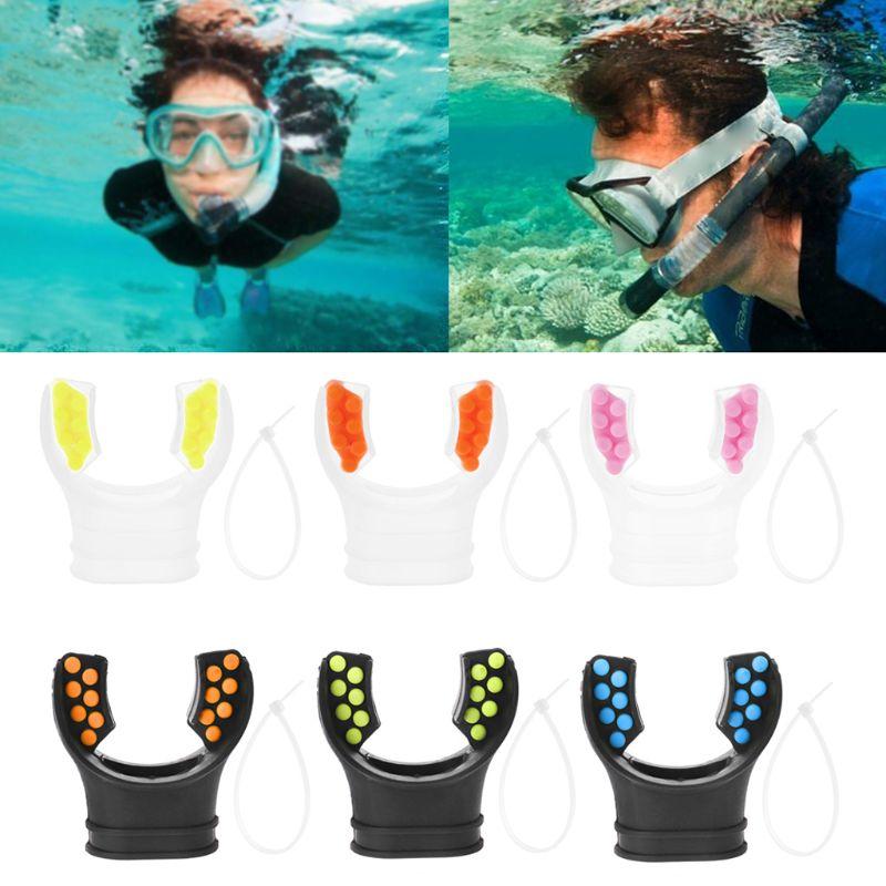 Diving Swimming Snorkel Mouthpiece Regulator Underwater Silicone Scuba Respirator Tube Accessories Dive Nozzle